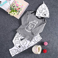 2016 New Toddler Kids Baby Girls Outfit Clothes T-shirt Tops+Long Pants Trousers 3PCS Set Bodysuit Baby Girl Clothes