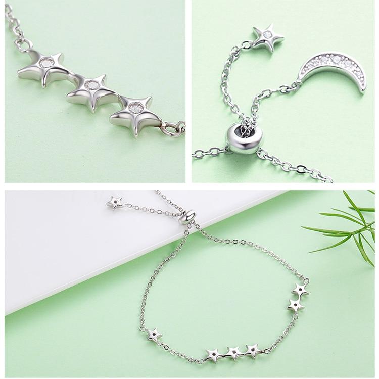 HTB1iWPenwoQMeJjy0Foq6AShVXap 925 Sterling Silver Sparkling Tennis Bracelet Chain Strand Bracelets for Women Luxury Original Sterling Silver Jewelry GXB029