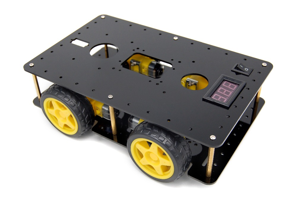 diy electronic kit Four-wheel drive smart car chassis 4WD smart car Tracking obstacle avoidance robot chassis