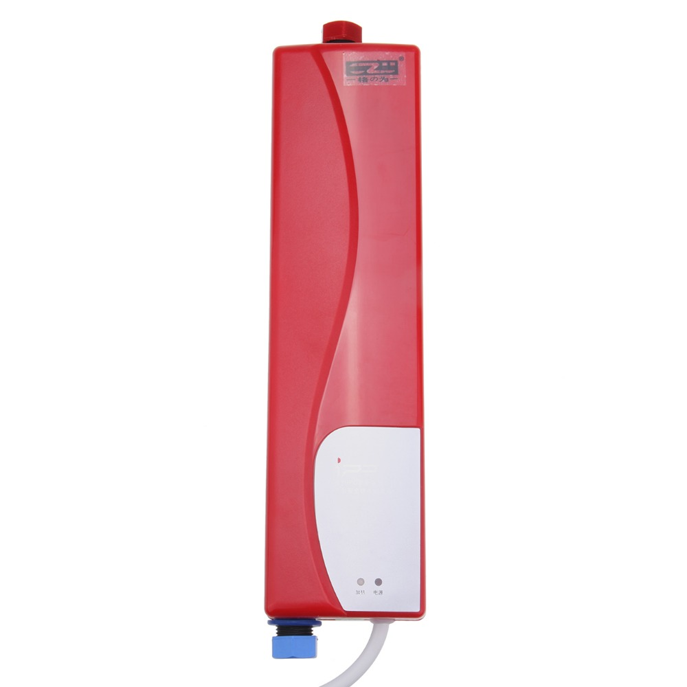 3000W Household Tankless Electric Shower Instant Water Heater for Kitchen Bathroom Practical white