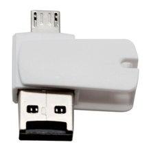 2 в 1 USB 2,0 и TF/Micro Female к Micro USB Мужской OTG кардридер адаптер