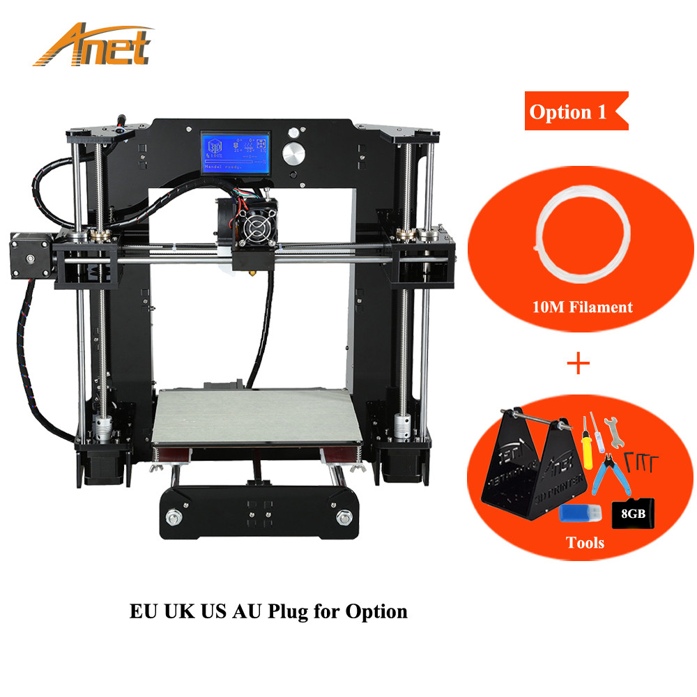 Anet A6 3D Printer Kits i3 DIY Self Assembly LCD Screen High Precision Big Size Desktop