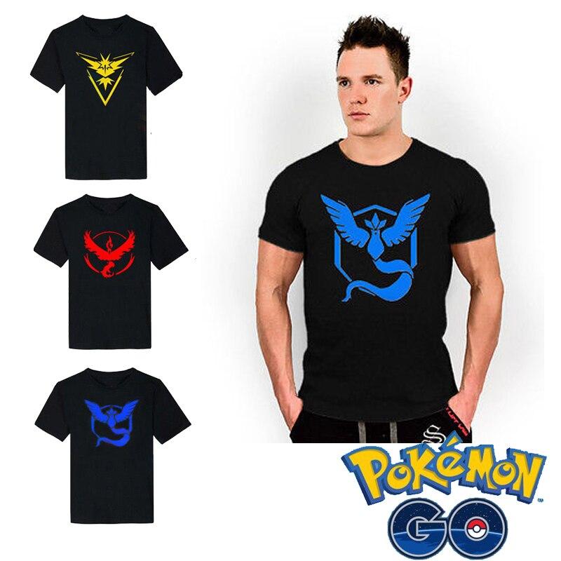 Free shipping Pokemon GO Pocket Monster APP Pokemon Game Camp T-shirt Cosplay Anime Cartoon Game Neutral Fans