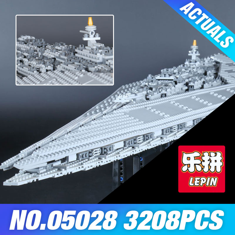2017 LEPIN 05028 Star Execytor Wars Super Destroyer Model Building Block Brick Kit Educational Toy Compatible 10221 for Child loz mini diamond block world famous architecture financial center swfc shangha china city nanoblock model brick educational toys