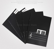 18 Sheets 1Pcs Music Practice Notebook Piano Violin Musical Notes Music Book Universal Five-line Spectrum of the Music sheet musical instruments automatic music score book page flipping machine music sheet auto page turning tools