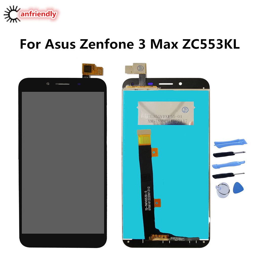 For <font><b>ASUS</b></font> Zenfone 3 Max 5.5 <font><b>ZC553KL</b></font> LCD Display+<font><b>Touch</b></font> <font><b>Screen</b></font> Digitizer Assembly Replacement Glass Panel For zenfone3 max 5.5 inch image