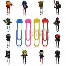 1pcs Batman Marvel Avenger Superhero Star Wars Figuras Dos Desenhos Animados PVC Bookmark Clipes de Papel Dos Artigos de Papelaria do Estudante Presente Toy Kids(China)