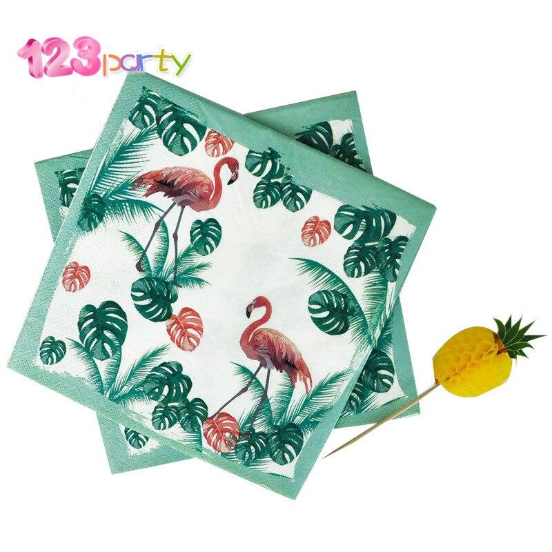 2019 Nieuwe Stijl 123 20 Stks Flamingo Thema Verjaardagsfeestje Cartoon Gedrukt Servet Drie Layer Geur Gratis Papieren Handdoek Partij Bruiloft Decoratie Lange Levensduur