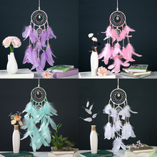 Wind Chimes Handmade Indian White Dream Catcher Net With Feathers Wall Hanging Dreamcatcher Craft Gift Home Nordic Decoration цена 2017
