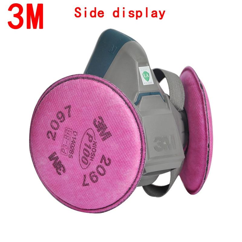 3m 7502 spray paint /dust mask respirator 3m 2097 p100 fliters