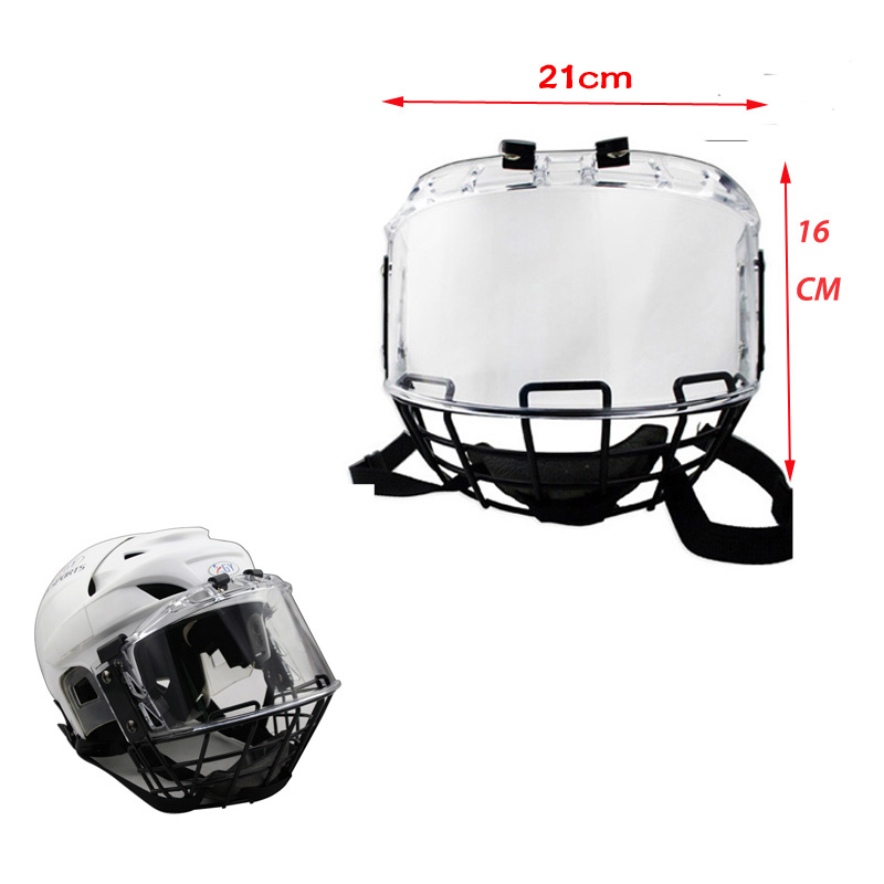 цена на Free shipping CE Approval Ice hockey helmet visor Ice Hockey player helmet Face Shield Visor mask cage for sale