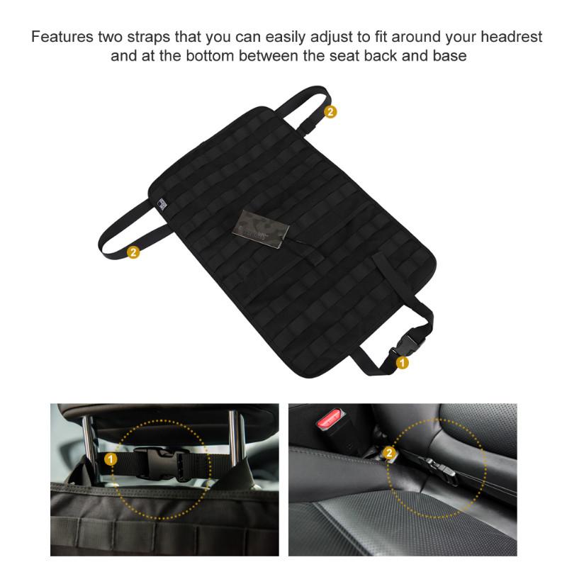 tactical molle car seat organizer 1000d nylon seat back cover protector tactical survival tools. Black Bedroom Furniture Sets. Home Design Ideas