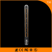50PCS E27 B22 Led Bulb 8W Vintage Edison Lamp,T30 LED COB Filament Light Retro Bulb AC 220V