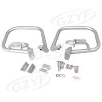 Motorcycle Rear Highway Crash Bars Guard Protector Replacment Kit For BMW R1200RT 2005 2013 Silver