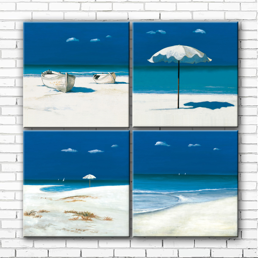 Mediterranean Blue Sea Beach Umbrella