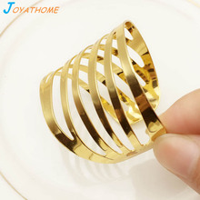 Joyathome 6pcs/Lot Metal Napkin Ring Western Style Golden Alloy Buckle Towel Hotel Wedding Party Table Decoration
