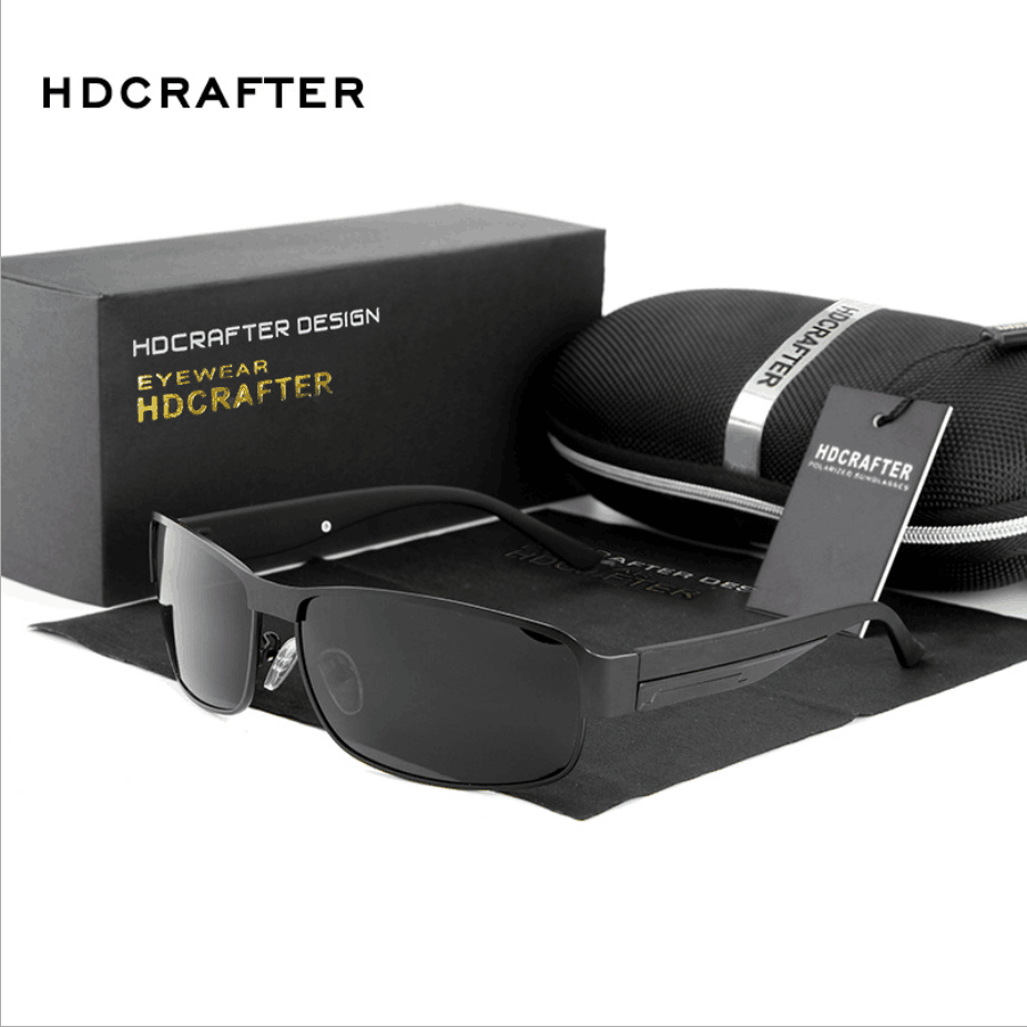 06aa36d861e HDCRAFTER Fashion Driving Sun Glasses for Men Polarized sunglasses UV400  Protection Brand Design Eyewear High Quality Oculos