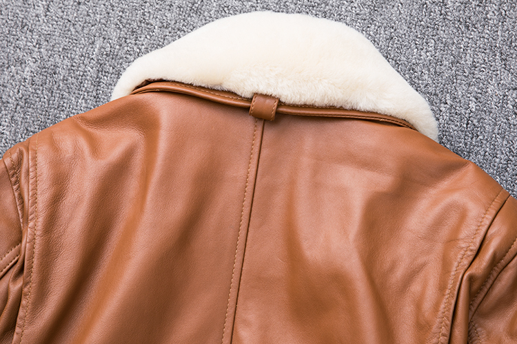 HTB1iWRNXE rK1Rjy0Fcq6zEvVXal MAPLESTEED Thickening Quilted 100% Sheepskin Leather Jacket Men Air Force G1 Flight Jacket Man Winter Coat Collar Removable M176