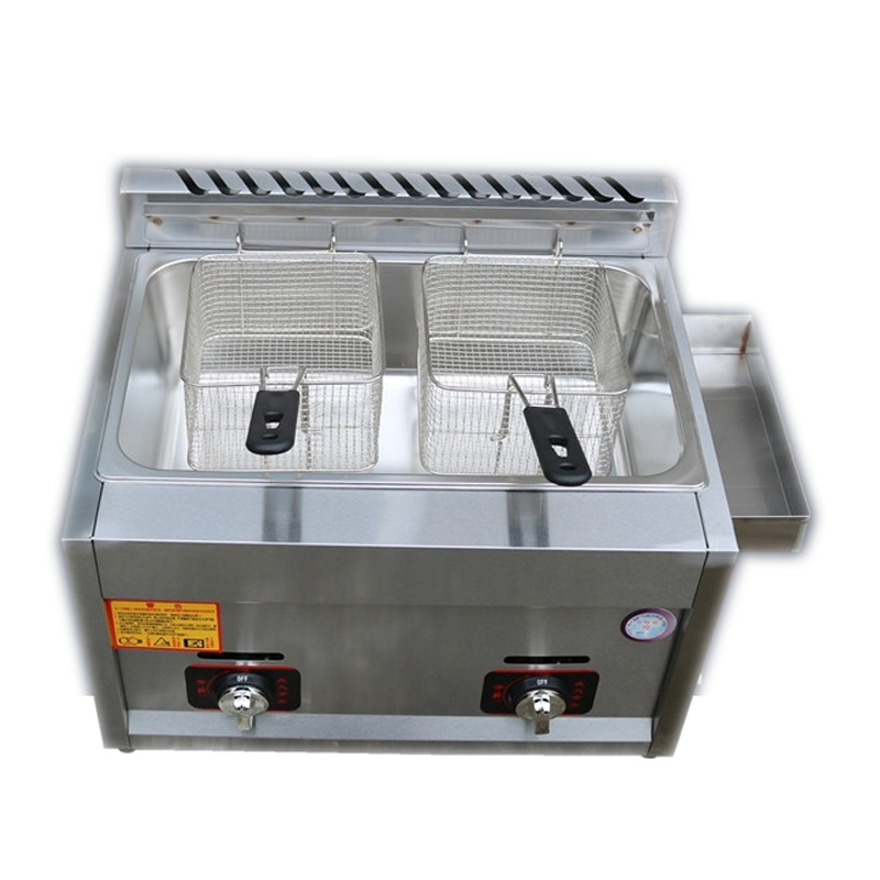 купить JX-11 Double Or single-cylinder gas frying pan Commercial Energy saving Stainless steel French fries machine по цене 5906.45 рублей