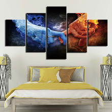 Canvas HD Modern Wall Art Home Decoration Living Room 5 Panel Ice and fire fingers contes Print Painting Modular Pictures Poster