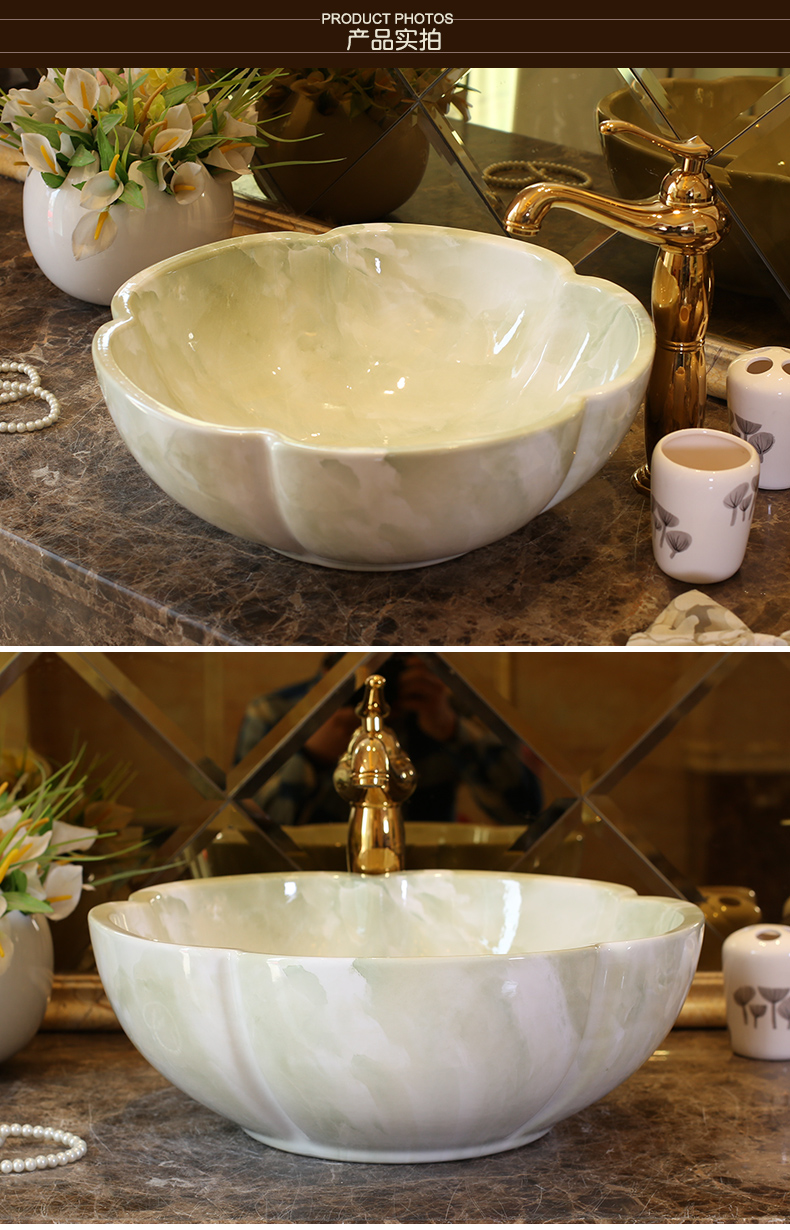 China Artistic Europe Style Counter Top porcelain wash basin bathroom sinks ceramic art lavabo bowl (4)