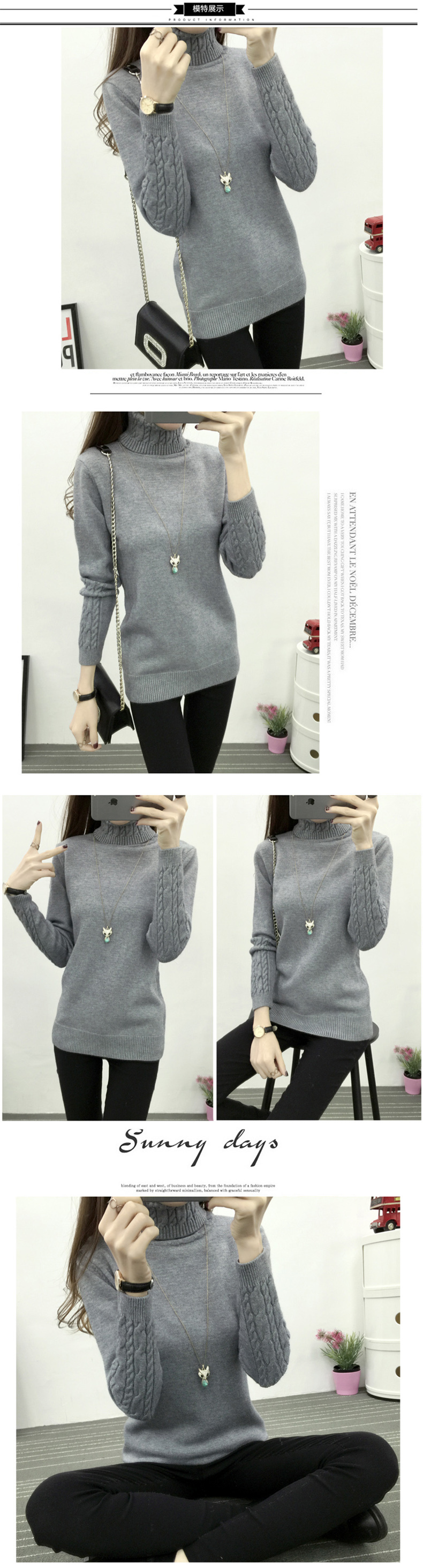 Thicken Warm Knitting Sweaters And Pullovers For Women 17 Winter Casual Elastic Turtleneck Knitwear Female Jumper Tricot Tops 2