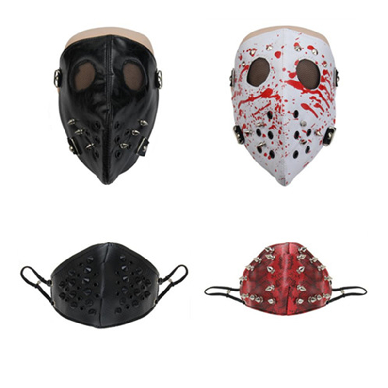 Role playing European and American Steampunk Trend Cool Rivet Mask Windproof Dustproof Motorcycle Riding Mask For Men And Women