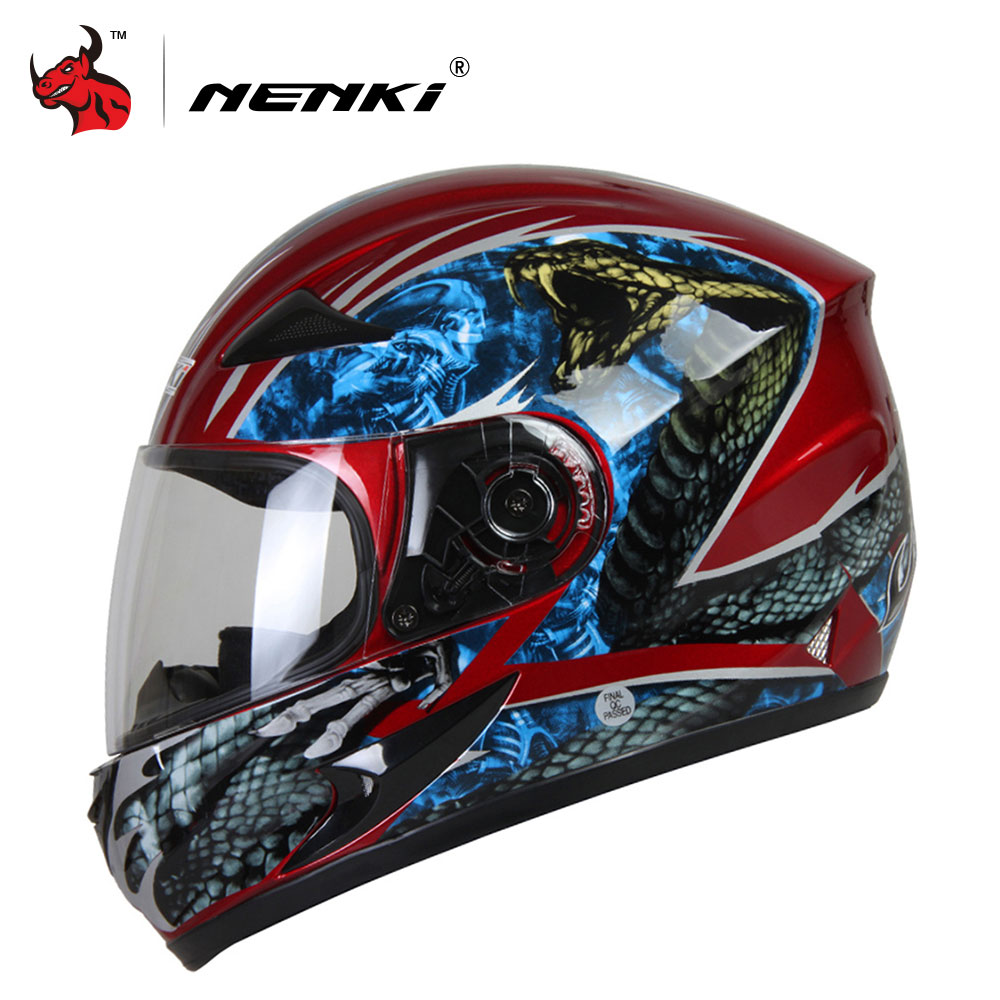 NENKI Motorcycle Helmet Full Face Motorbike Helmet Personality Moto Helmet Capacetes De Motociclista For Men And Women nenki motorcycle helmets motocross racing helmet motorbike full face helmet capacete de moto for men and women 13 color