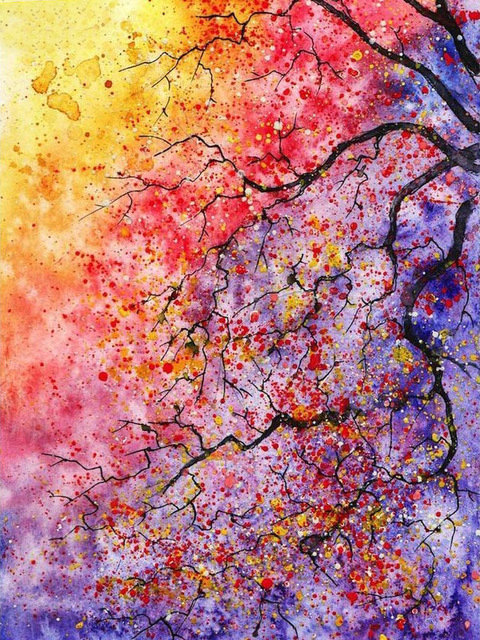 watercolor paintings images - 638×1136