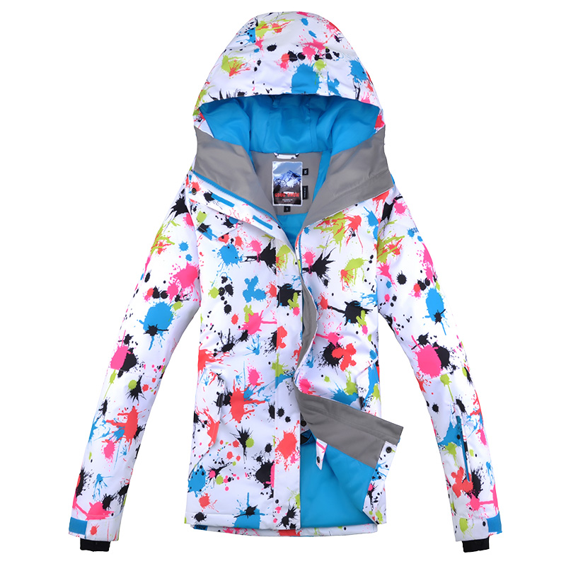 Gsou neige coloré ski costume femme snowboard veste veste ski femme hiver veste femme ski veste skiwear chaud esqui - 6