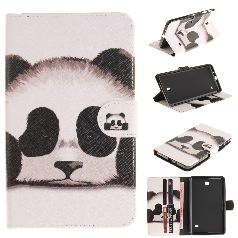 For Case Samsung Galaxy Tab 4 7.0 SM-T230 T235 T231Fashion Women Design PU  Leather Flip Stand Cover Cases Funda TPU Tablet Skin b893cea834