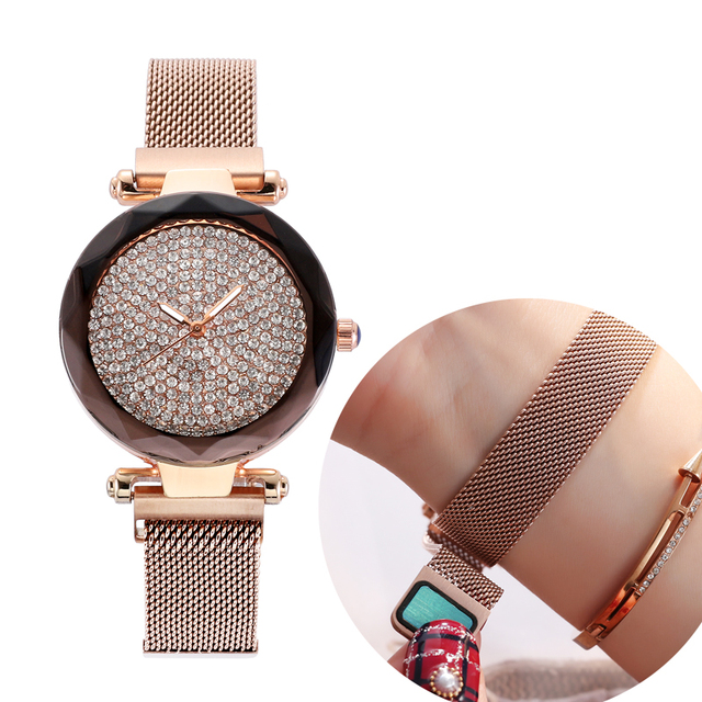 2019 Top Brand Luxury Rose Gold Quartz Watches Ladies Watch Stainless Steel Woma