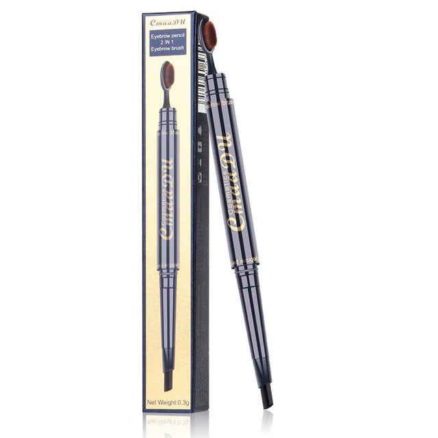 2 IN 1 Eyebrow Maquiagem Profissional Completa Double-head Pencil for Eyes Durable Waterproof Not Flowering Easy To Color TSLM1 5