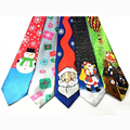 2016 New Style Christmas Tie Men's Neckties Christmas Tree Character Neckties Fashion Silk Ties for men and Women