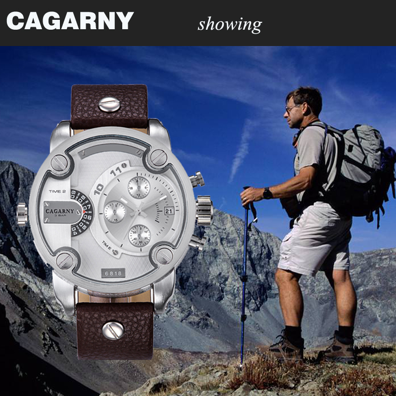 cagarny dz style quartz watch men golden mens watches (9)