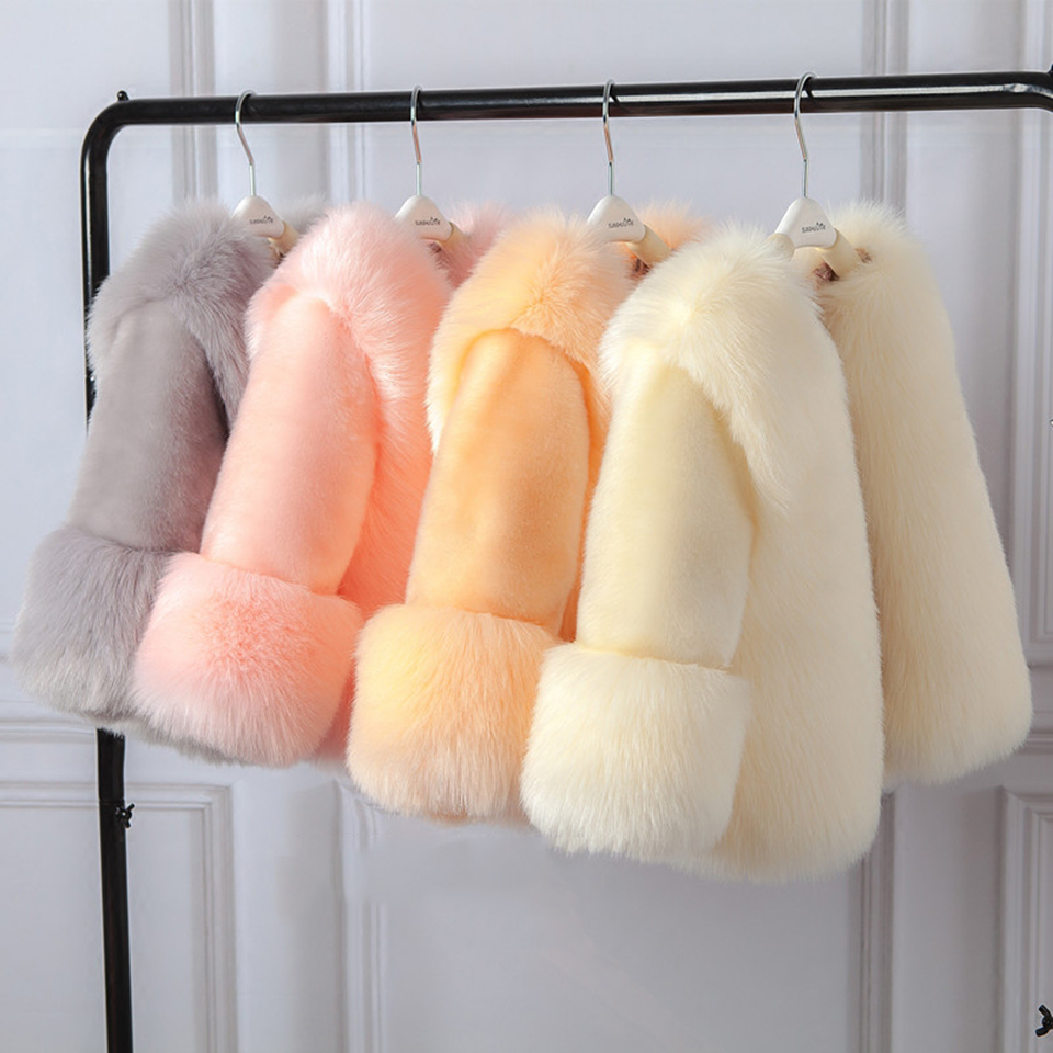 Winter Baby Girls Clothes Faux Fur Thick Girl Coats 5 Colors Warm kids Jacket Age For 2T 3 4 6 8 10 12 Yrs Children OuterwearWinter Baby Girls Clothes Faux Fur Thick Girl Coats 5 Colors Warm kids Jacket Age For 2T 3 4 6 8 10 12 Yrs Children Outerwear