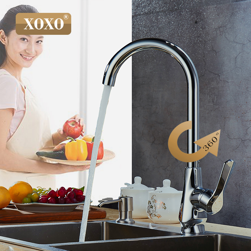 XOXO 360 degree rotation cold and hot copper Kitchen Faucet Single Handle chrome Kitchen mixer tap 80021                        XOXO 360 degree rotation cold and hot copper Kitchen Faucet Single Handle chrome Kitchen mixer tap 80021