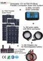 Solarparts 4x75W DIY RV/Boat Kits Solar System 4 x75W flexible solar panel 1x 20A solar controller 1 set 3M MC4 cable 1 set clip