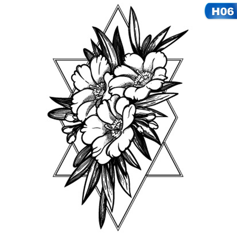 Tattoo & Body Art Energetic 3pcs Flower Snake Fake Tattoo Cute Rabbit Dancing King Body Art Waterproof Temporary Tattoo Stickers