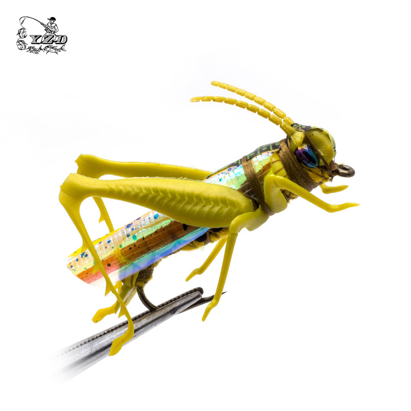 Grasshopper Cricket Dry Fly Fishing Fluer Set 4PCS kit Fluer Tynger - Fiskeri - Foto 2