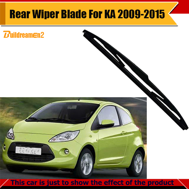 Buildreamen Vehicle Soft Rubber Bracketless Wiper Blade Car Rear Window Windshield For Ford Ka