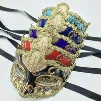 Music Notation Hand Painted Mask Gold Lace Venetian Ball Mask Masquerade Mask Art Collection Mask E