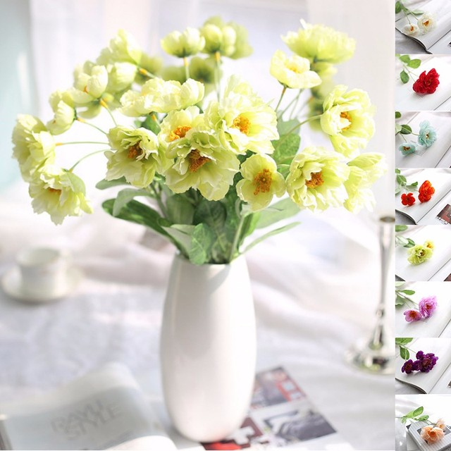 High quality 1pc cheap diy chrysanthemum artificial fake silk high quality 1pc cheap diy chrysanthemum artificial fake silk flowers wedding party christmas gift home decoration mightylinksfo