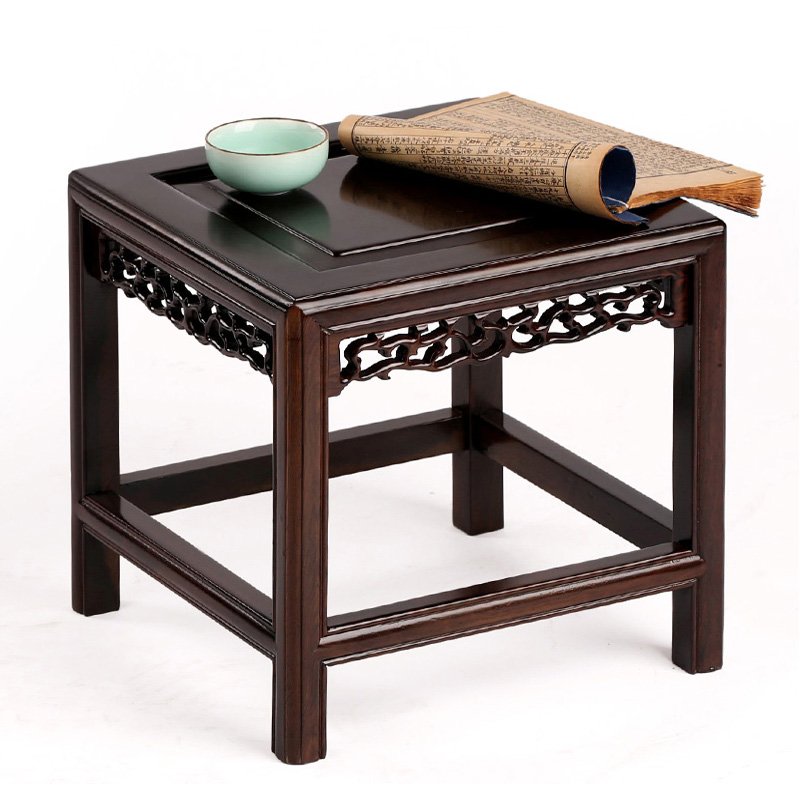 Carved mahogany ebony wood flowerpot base Wooden Bench Stool shelf bracket decoration flower bowl chiaro паула 3 411021101