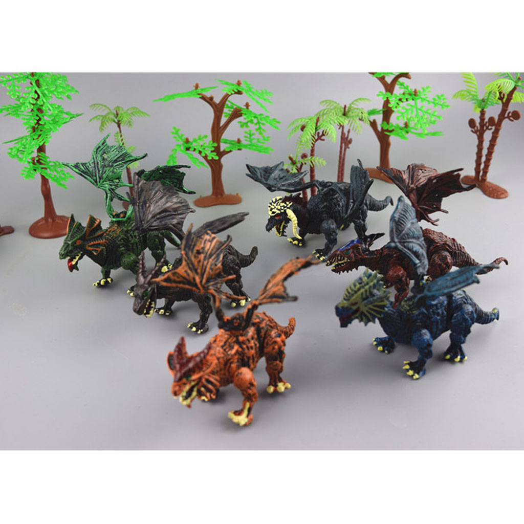 Action Figure 6 /12Pcs Plastic Dinosaur Figures Dino Model Kids Toy Collection Educational Toys for Children Birthday Gift