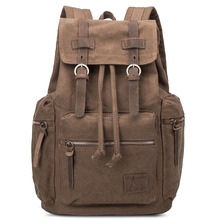 цена CURIELINE Factory direct sale canvas bags retro casual men's anti-theft backpack student leisure backpack