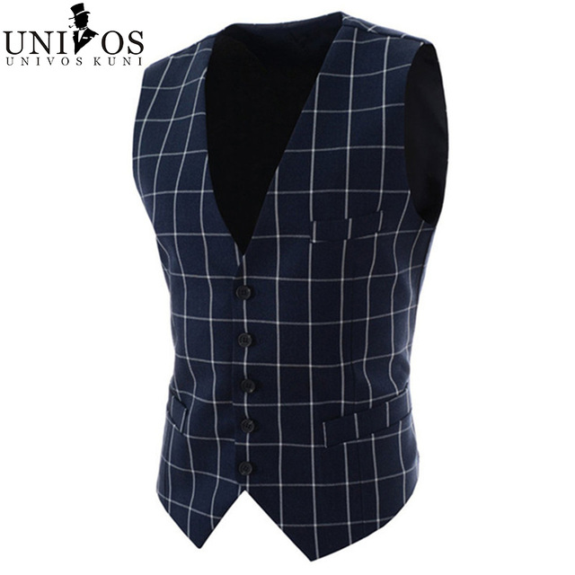 2016 New Arrival! Terno Masculino Men Suit Vest Spring Autumn Fashion Dress Men's Business Blazer Tops Slim Fit Waistcoat Z2284