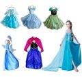 Nuevo grado superior 2015 vestido de traje de princesa traje de lentejuelas de Diamantes de Manga Larga Vestidos vestido de las muchachas