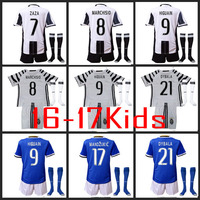 Hot Sales 2017 Top Best Qualit Juventuses Soccer Jersey KIDS Kit Socks 16 17 Home Away