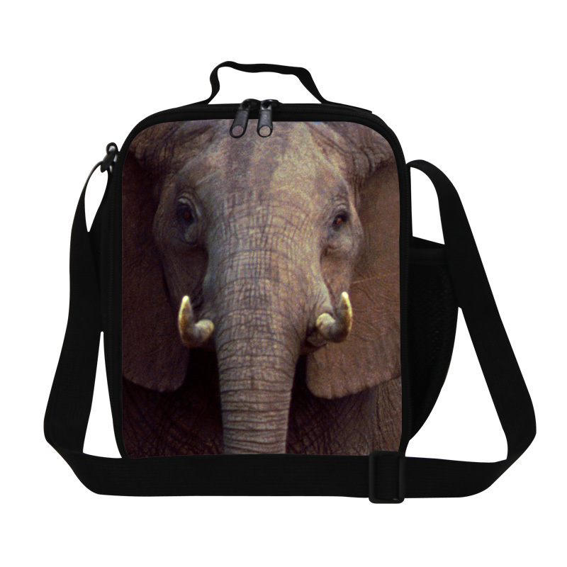 Best lunch bags elephant 3D print lunch bags for kids,children boys personalized lunch box for school thermal food bag for mens